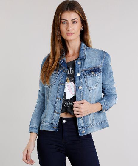 Jaqueta-Jeans-Feminina-com-Bolsos-Azul-Claro-9101340-Azul_Claro_1