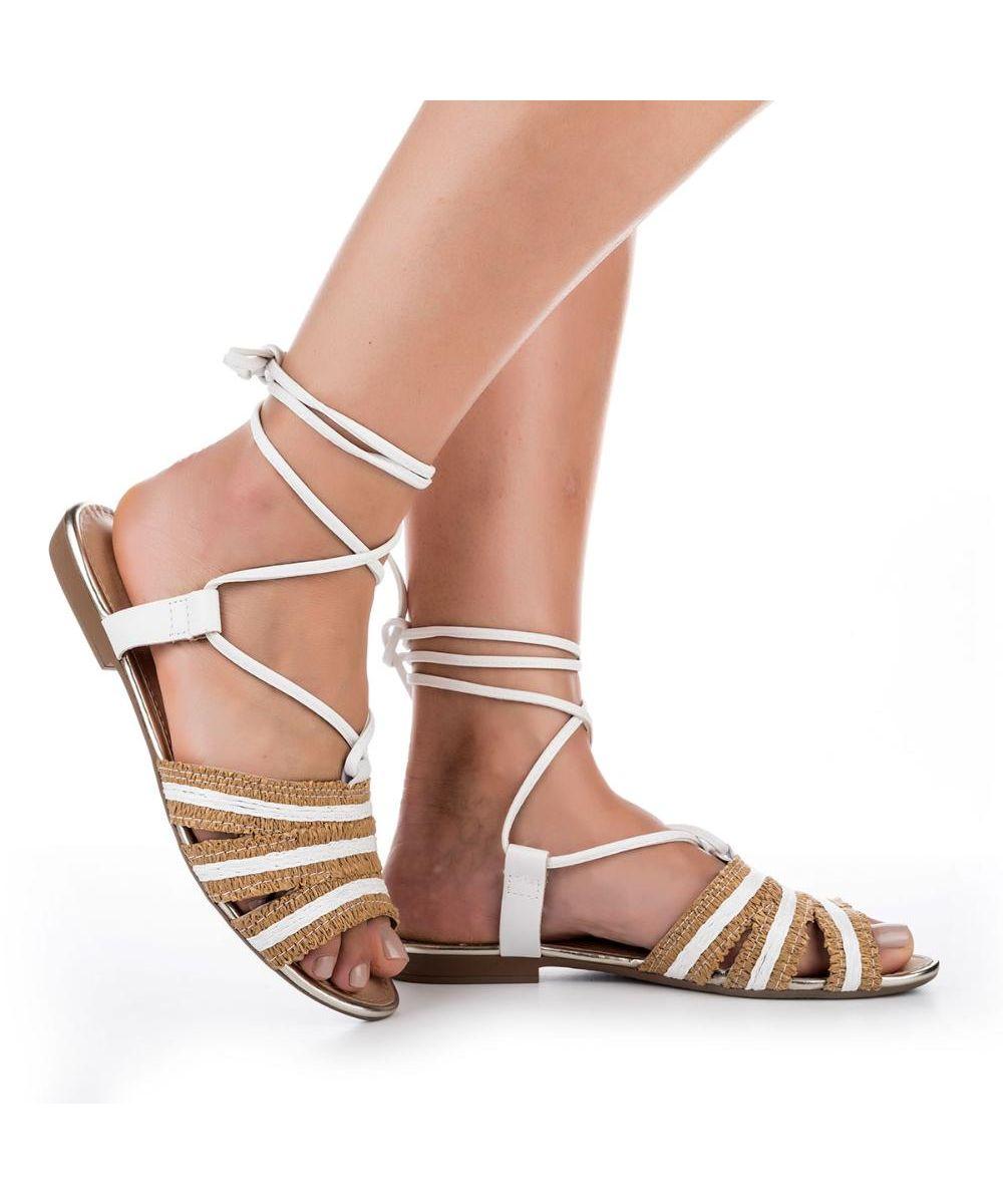 Sandália rasteira amarrações - Dakota