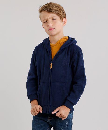 Blusao-Infantil-Basico-em-Fleece-com-Capuz-e-Bolsos-Azul-Marinho-8838148-Azul_Marinho_1