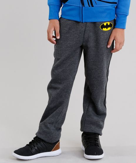 Calca-Infantil-Batman-em-Moletom-com-Listras-Laterais-Cinza-Mescla-Escuro-8475786-Cinza_Mescla_Escuro_1