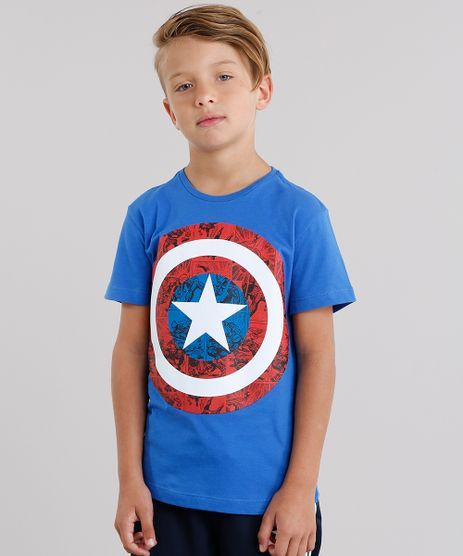 Camiseta-Infantil-Capitao-America-Manga-Curta-Gola-Careca-Azul-Royal-8455168-Azul_Royal_1