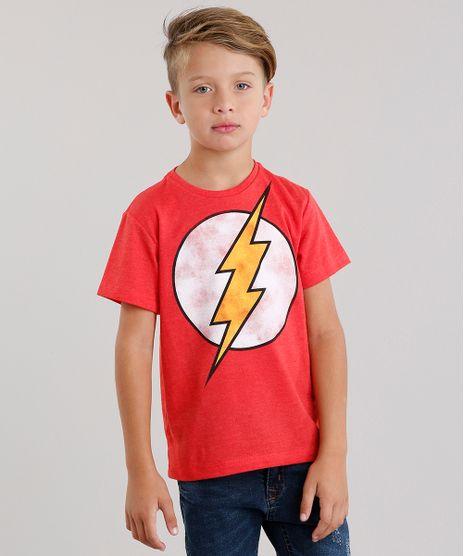 Camiseta-Infantil-The-Flash-Manga-Curta-Gola-Careca-Vermelha-9113219-Vermelho_1