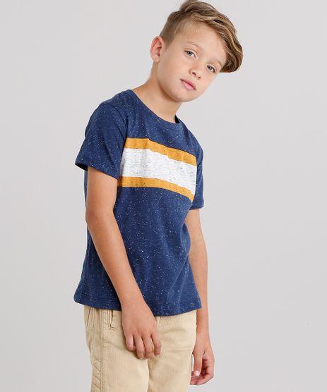Camiseta-Infantil-com-Recortes-em-Listras-Manga-Curta-Decote-Careca-Azul-Marinho-9127574-Azul_Marinho_1