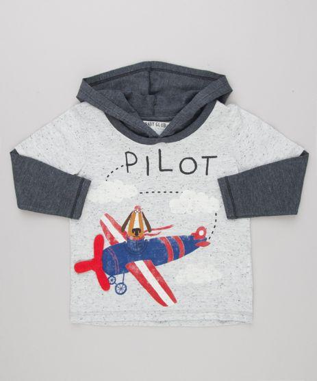 Camiseta-Infantil-com-Estampa-Interativa-Cachorro-com-Aviao-Manga-Longa-com-Capuz-Cinza-Mescla-Claro-9140651-Cinza_Mescla_Claro_1