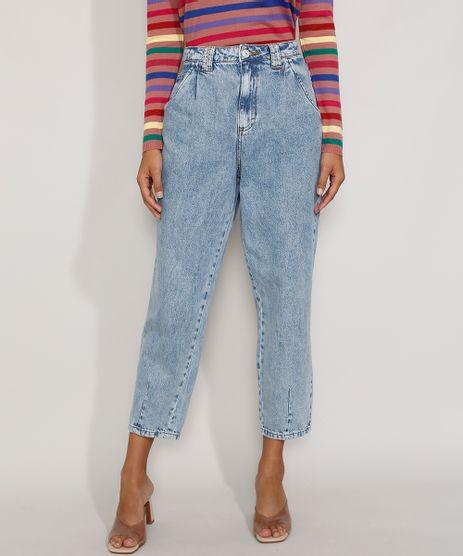 Calca-Jeans-Feminina-Baggy-Cintura-Super-Alta-Marmorizada-Azul-Claro-9978127-Azul_Claro_1
