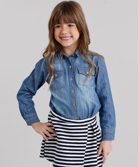 Camisa-Jeans-Infantil-com-Bolsos-Azul-Medio-9158386-Azul_Medio_1