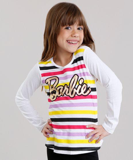 Blusa-Infantil-Barbie-com-Estampa-Listrada-Manga-Longa-Decote-Redondo-em-Algodao---Sustentavel-Off-White-9137853-Off_White_1