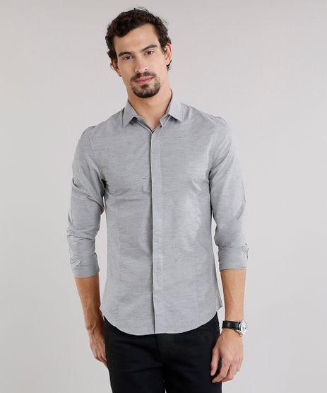 Camisa-Masculina-Slim-Manga-Longa-Cinza-8855635-Cinza_1