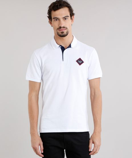 88846f5e17 Polo-Masculina-Basica-em-Piquet-com-Bordado--Global