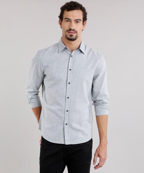 Camisa-Masculina-Comfort-Estampada-de-Poa-em-Flanela-Manga-Longa-Cinza-Claro-8859341-Cinza_Claro_1