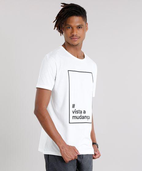 Camiseta-Masculina--Vista-a-Mudanca--Manga-Curta-Gola-Careca-em-Algodao---Sustentavel-Off-White-9187422-Off_White_1