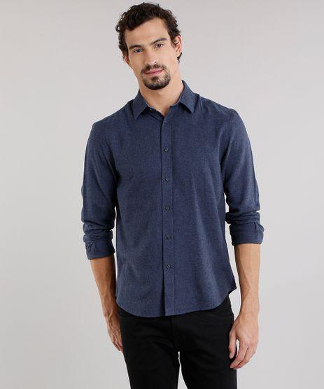Camisa-Masculina-Comfort-em-Flanela-Manga-Longa-Azul-Marinho-8841841-Azul_Marinho_1