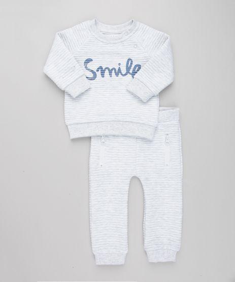 Conjunto-Infantil-de-Blusao--Smile--Canelada---Calca-com-Ziper-Cinza-Mescla-Claro-8909813-Cinza_Mescla_Claro_1