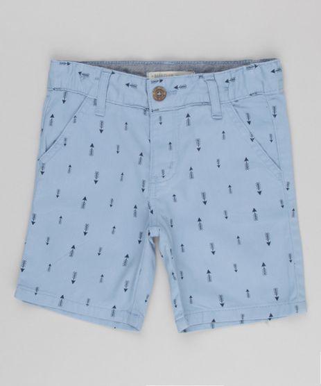 Bermuda-Infantil-Estampada-de-Flechas-em-Algodao---Sustentavel-Azul-Claro-9153310-Azul_Claro_1