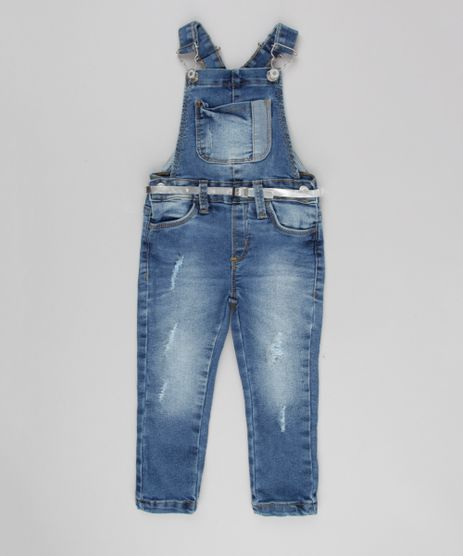 Jardineira-Jeans-Infantil-com-Cinto-Metalizado-em-Algodao---Sustavel-Azul-Medio-9140484-Azul_Medio_1