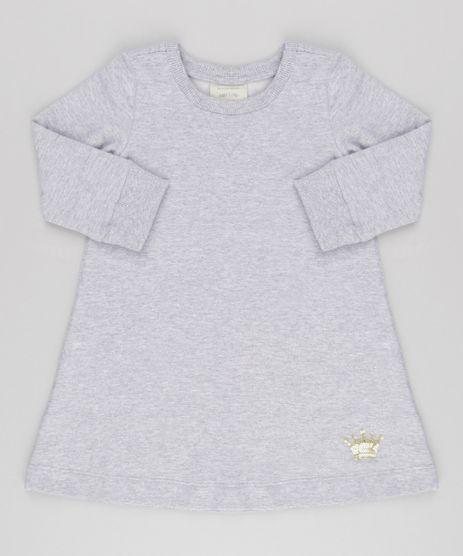 Vestido-Infantil-em-Moletom-com-Paetes-Manga-Longa-Cinza-Mescla-9154783-Cinza_Mescla_1