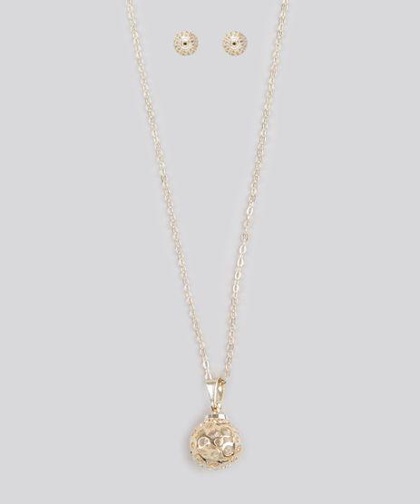 Kit-de-Colar---Brinco-Feminino-Esfera--Dourado-8747323-Dourado_1