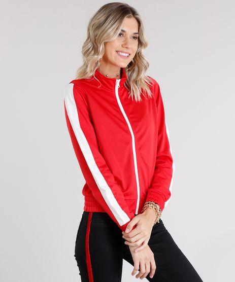 Jaqueta-Feminina-Esportiva--Better-Together--com-Listras-Contrastantes--Vermelha-8894301-Vermelho_1