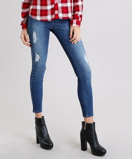 Calca-Jeans-Feminina-Cigarrete-Sawary-Destroyed-com-Ziper-Azul-Escuro-9162712-Azul_Escuro_1