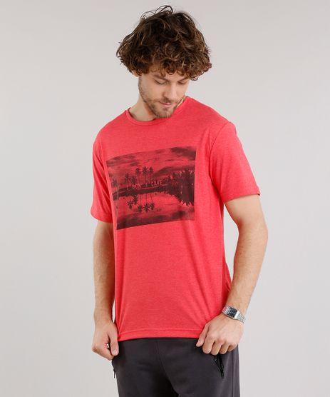 Camiseta-Masculina-com-Estampa-de-Paisagem-Manga-Curta-Gola-Careca-Vermelha-9159039-Vermelho_1