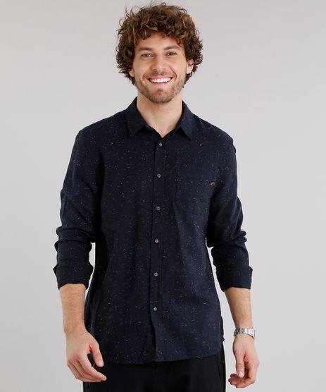 Camisa-Masculina-em-Flanela-Botone-com-Bolso-Manga-Longa-Azul-Marinho-8880195-Azul_Marinho_1