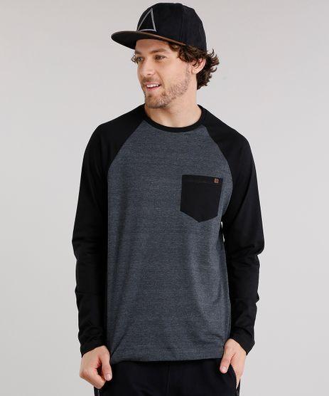 Camiseta-Masculina-Raglan-com-Bolso-Manga-Longa-Gola-Careca-Cinza-Mescla-Escuro-9120518-Cinza_Mescla_Escuro_1