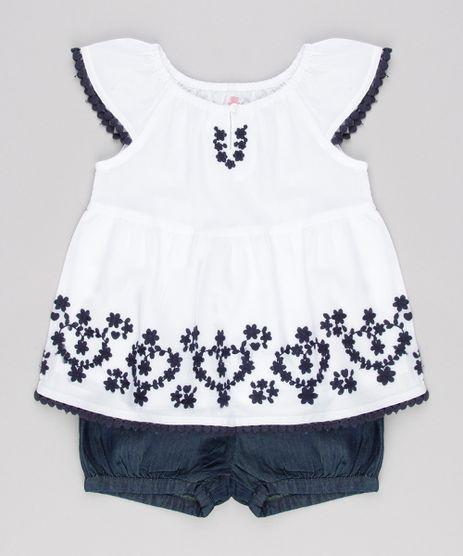 Conjunto-Infantil-de-Blusa-com-Bordado-Manga-Curta-Off-White---Short-Jeans-com-Babados-Azul-Escuro-8920774-Azul_Escuro_1