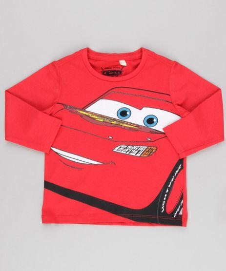 Camiseta-Infantil-Carros-Decote-Careca-Manga-Longa-em-Algodao---Sustentavel-Vermelha-9139670-Vermelho_1