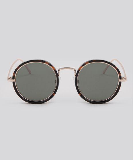 Oculos-de-Sol-Redondo-Feminino-Oneself-Dourado-9189360- b779d8fab7