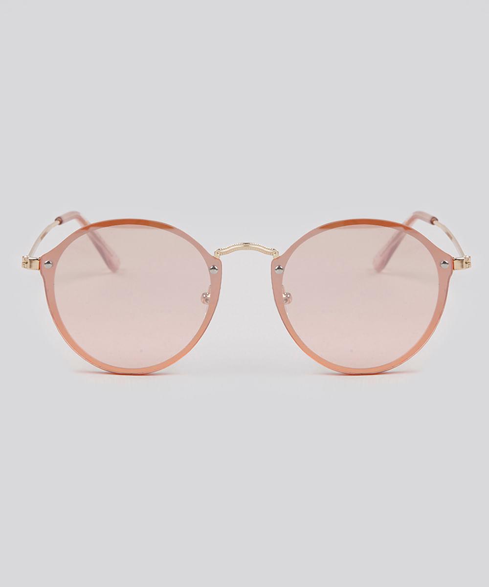 ee0887b76 Óculos de Sol Redondo Feminino Oneself Rosa - ceacollections