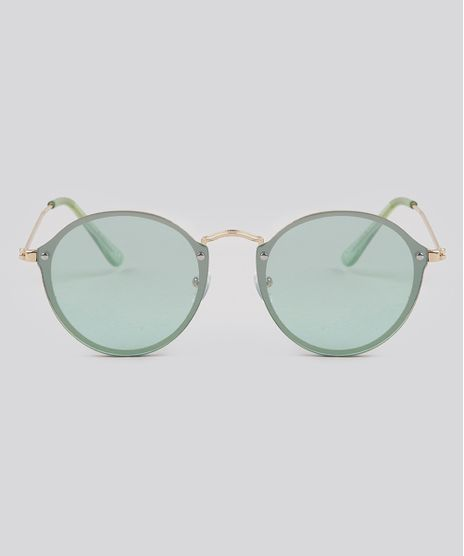 Oculos-de-Sol-Redondo-Feminino-Oneself-Verde-9189339-Verde_1