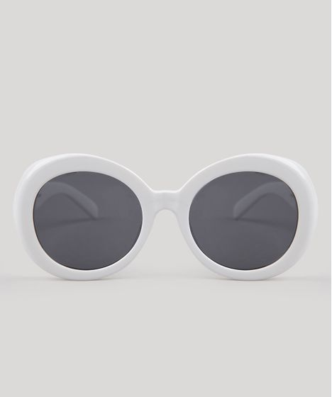 53d1f5237c0e4 Oculos-de-Sol-Redondo-Feminino-Oneself-Branco-9189514- ...