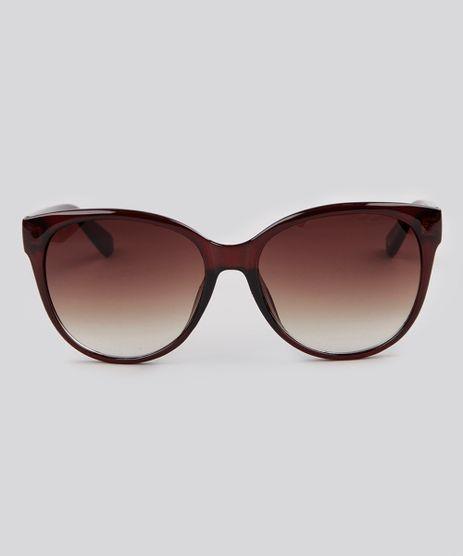 Oculos-de-Sol-Redondo-Feminino-Oneself-Marrom-9189351-Marrom_1