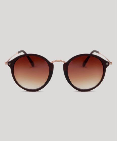 Oculos-de-Sol-Redondo-Feminino-Oneself-Marrom-9189333-Marrom_1
