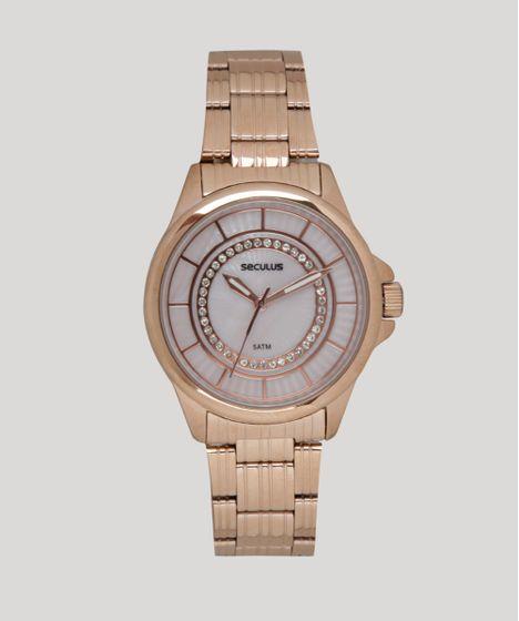 6b71ec906d5 Relógio Analógico Seculus Feminino - 20601LPSVRS3 Rosê - cea
