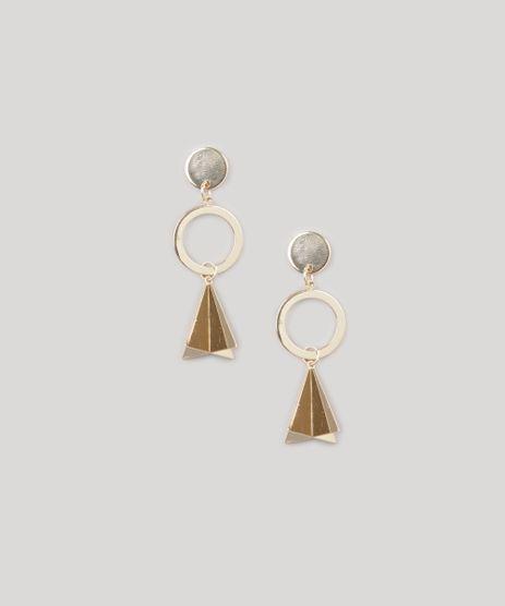 Brinco-Feminino-Geometrico-com-Argola-Dourado-8839069-Dourado_1