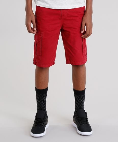 Bermuda-Infantil-Cargo-com-Bolsos-Vermelha-9043648-Vermelho_1