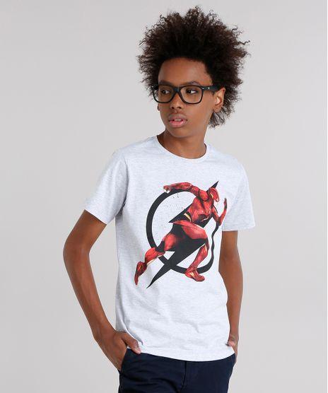Camiseta-Infantil-The-Flash-Manga-Curta-Gola-Careca-Cinza-Mescla-Claro-9141947-Cinza_Mescla_Claro_1