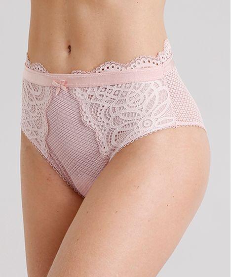 5ae5cd920a Calcinha-Feminina-Hot-Pant-em-Renda-Rose-8970728- ...
