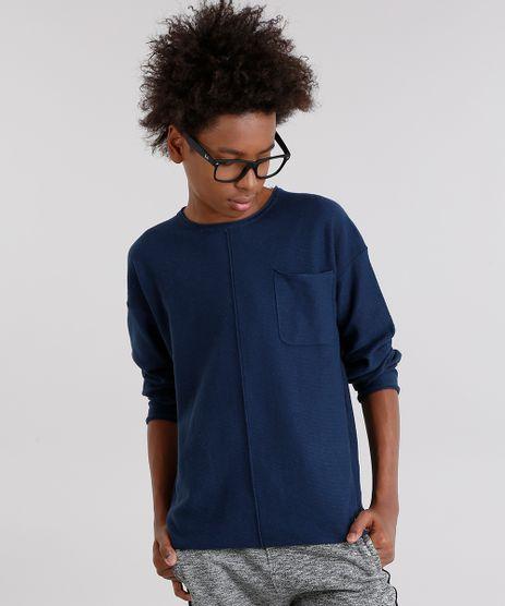 Camiseta-Infantil-Canelada-com-Bolso-Manga-Longa-Gola-Azul-Marinho-8873242-Azul_Marinho_1