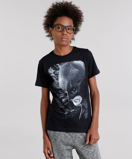 Camiseta-Infantil-Batman-Manga-Curta-Gola-Careca-em-Algodao---Sustentavel-Preta-9141587-Preto_1