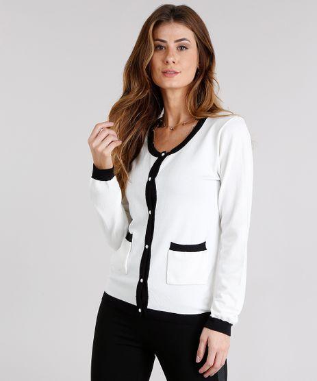 Cardigan-Feminino-Contrastante-com-Perolas-em-Trico-Decote-Redondo-Off-White-8926194-Off_White_1