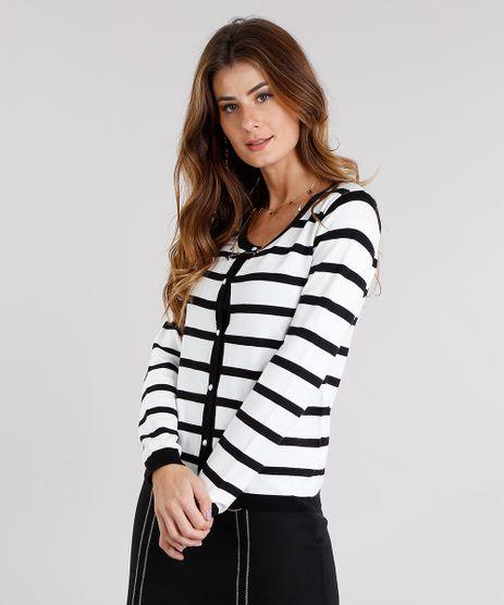 Cardigan-Feminino-Listrado-com-Perolas-em-Trico-Decote-Redondo-Off-White-8926193-Off_White_1