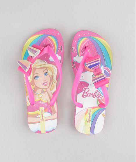 026a6a9e4bc7a Chinelo Infantil Ipanema Barbie e Unicórnio com Laço Pink - cea