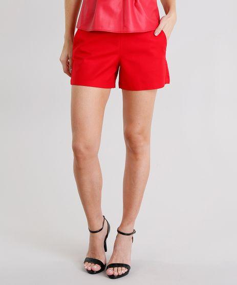 Short-Feminino-Cintura-Alta-com-Ziper-Vermelho-9013323-Vermelho_1