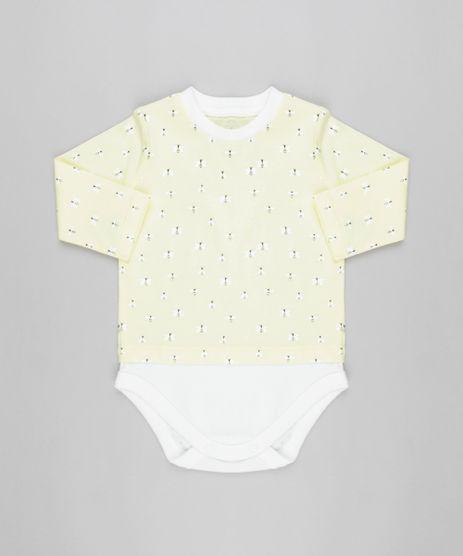 Body-Camiseta-Infantil-Estampada-de-Abelhas-Manga-Longa-Gola-Careca-em-Algodao---Sustentavel-Amarelo-Claro-8905762-Amarelo_Claro_1