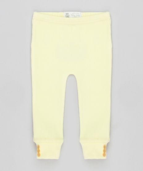 Calca-Infantil-Basica-Canelada-com-Botoes-na-Barra-Amarelo-Claro-8905756-Amarelo_Claro_1