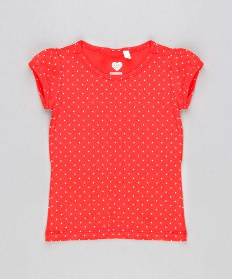 Blusa-Infantil-Estampada-Poa-Manga-Curta-Decote-Redondo-em-Algodao---Sustentavel-Vermelha-9146409-Vermelho_1