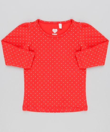Blusa-Infantil-Estampada-Poa-Manga-Longa-Decote-Redondo-em-Algodao---Sustentavel-Vermelha-9145687-Vermelho_1
