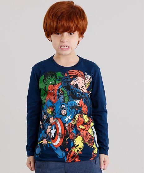 Camiseta-Infantil-Herois-Os-Vingadores-Manga-Longa-Gola-Careca-Azul-Marinho-9043344-Azul_Marinho_1